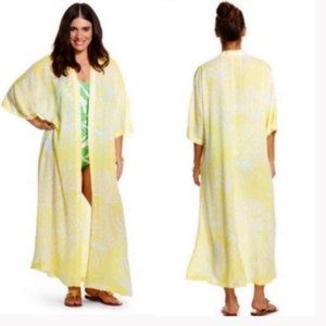 Lilly Pulitzer Yellow Pineapple Maxi Robe Cover Up